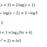 Ejercicios y problemas resueltos de ecuaciones logarítmicas