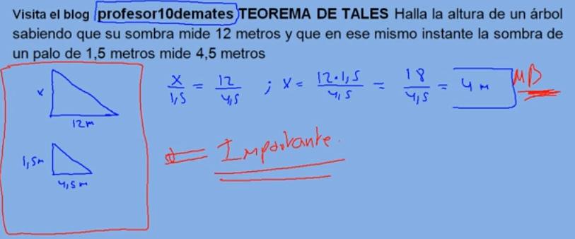 Teorema De Thales Formula