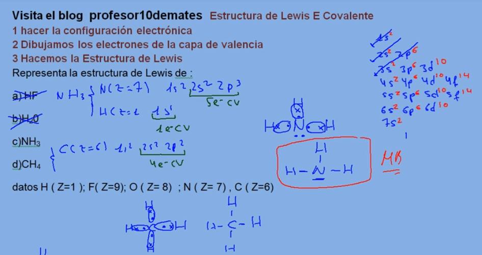 Estructura de Lewis ejercicios resueltos