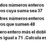 Problemas de ecuaciones NUMERICOS