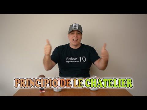 Principio de Le Chatelier Experimento ejemplo explicación