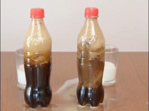 Que pasa si mezclamos coca cola con leche