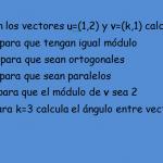 vectores ejercicios resueltos exámenes 1 bachillerato 4 eso
