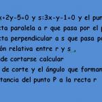 Ecuaciones de la recta en el plano ejercicios resueltos