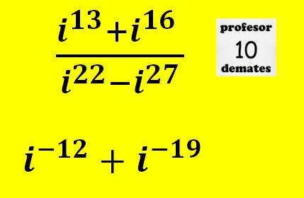 Potencias de i numeros complejos
