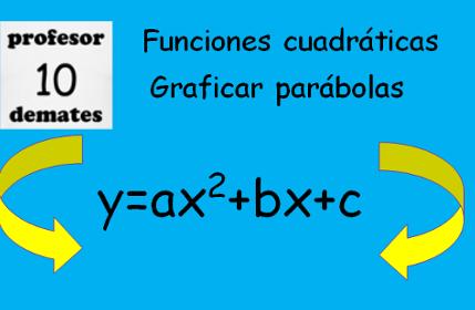 funcion cuadratica graficar parabolas